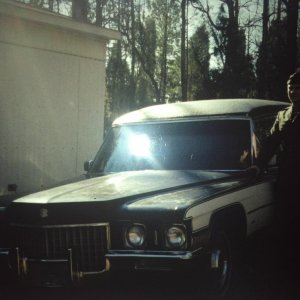 image. First hearse I ever owned 71 mm.  The jaws of the crusher killed this car.